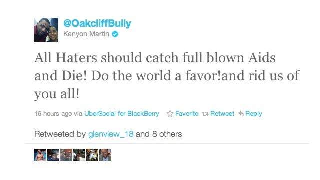 "Kenyon Martin Would Like All Of His Haters To ""Catch Full Blown AIDS And Die!"""