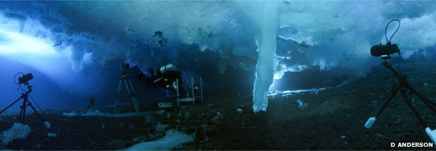 This Creeping Underwater Ice Tornado Kills Everything It Touches