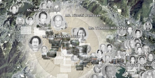 A Google Earth map of Nagasaki survivors' eyewitness accounts