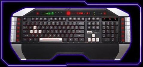 Saitek Cyborg Keyboard Decked Out Knight Rider Style