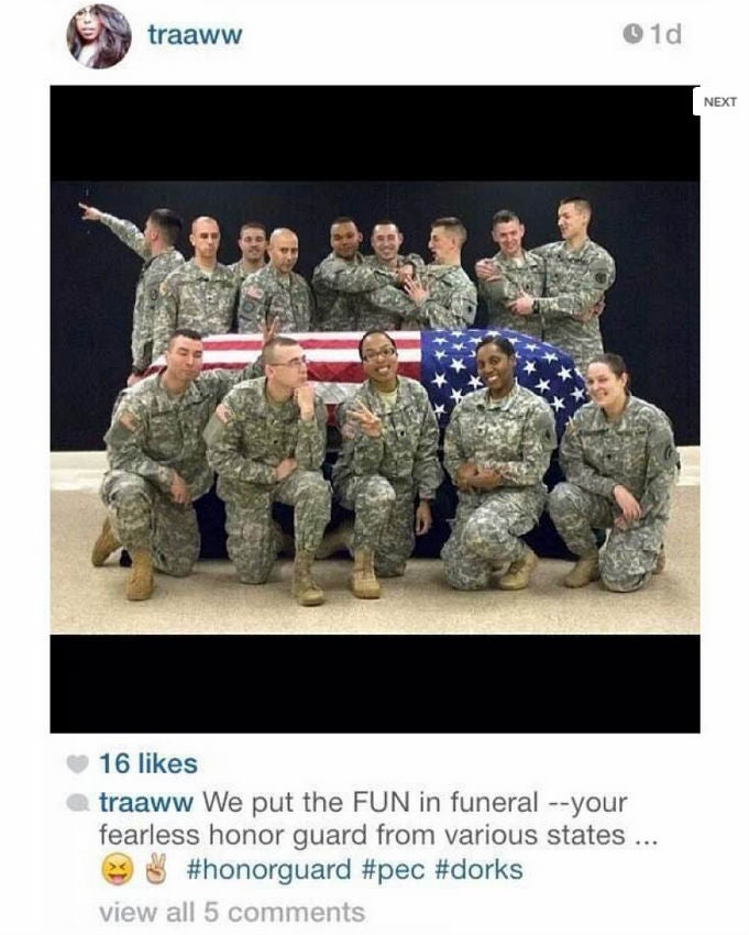 National Guard Soldier Gets Death Threats Over 'Fun' Funeral Picture
