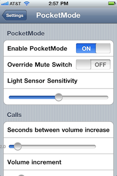 PocketMode iPhone App Gallery