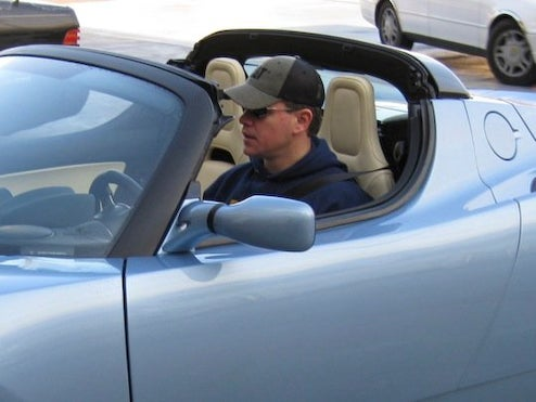 Matt Damon To Save World Again, This Time With Tesla Roadster