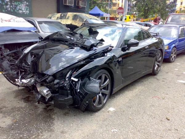 New Nissan GT-R Gets Crumpled In Malaysia, We Cry
