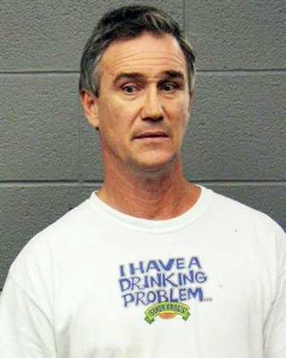Repeat Drunk Driver Wears Appropriate T-Shirt for Mugshot