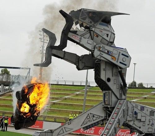 Behold The Car-Crushing Fury Of Robosaurus!