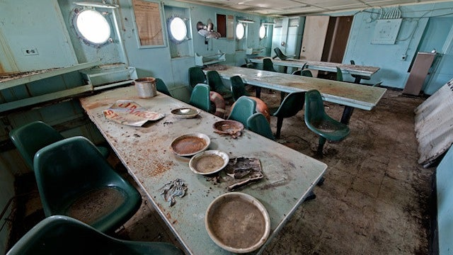 What an Abandoned Ghost Warship Looks Like