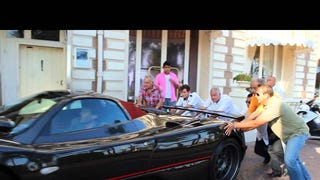 Bump-Starting A Pagani Zonda Is A Wonderfully Ridiculous Activity