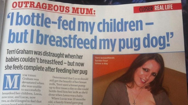 Meet the Woman Who Breastfeeds Her Dog Because She Can