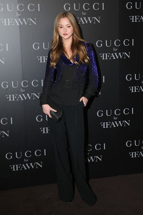 Oh Noes: Someone Forgot Her Slip At The Gucci Party