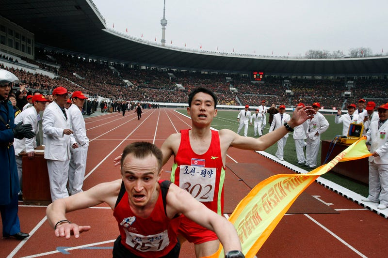 Ukranian Wins Glorious North Korean Marathon In Photo Finish