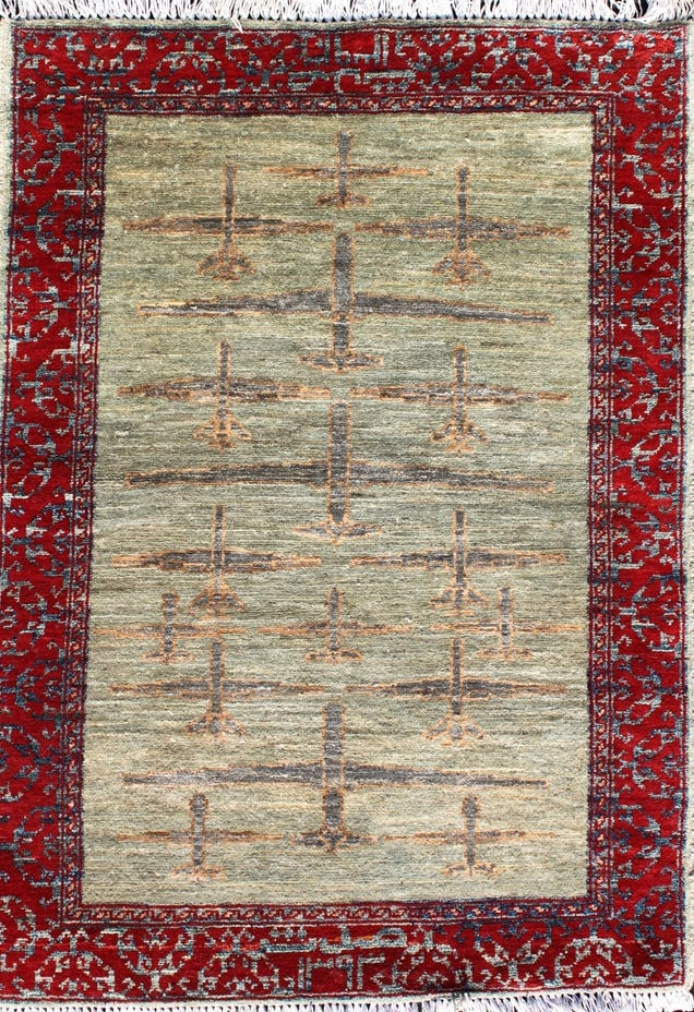 These Traditional-Style Afghani Rugs Were Inspired By Modern Warfare