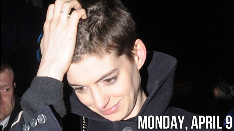 In an Effort to Look Miserable, Anne Hathaway Chops Off Her Long, Luscious Locks