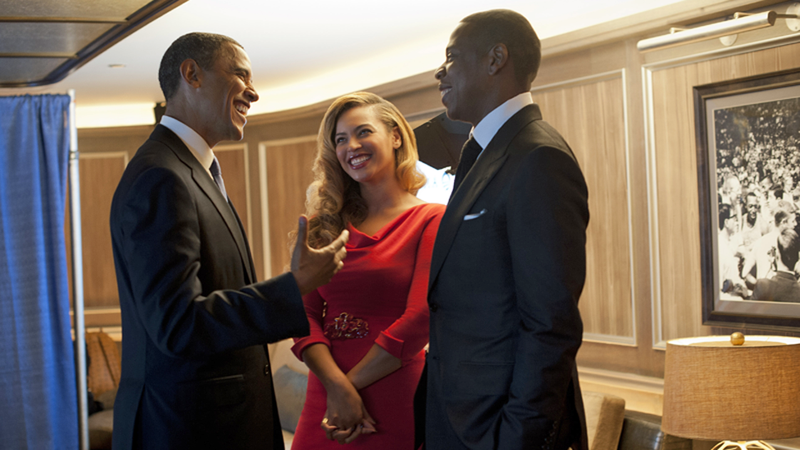 For One Perfect Moment, Beyoncé and Jay-Z Imagine They Are Michelle Obama
