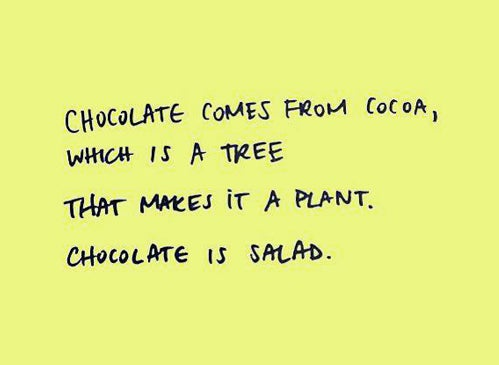 Who says you don't eat salad?
