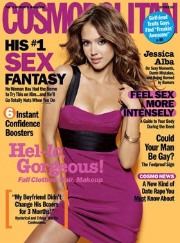 'Cosmo' Cover Girl Jessica Alba: Emotionally Unavailable, Intuitive, Creatively Unfulfilled