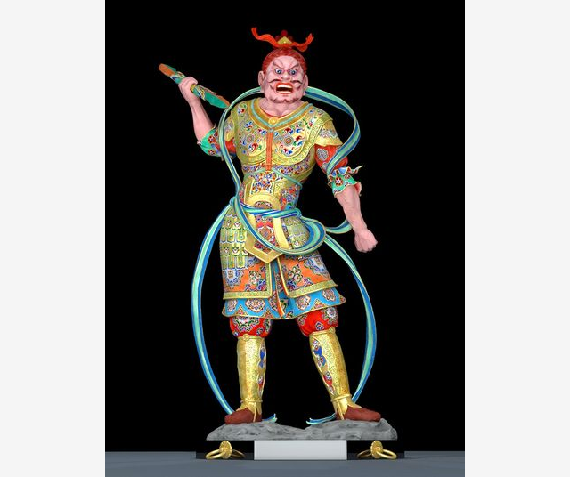 The colors on this digitally restored ancient statue are unreal