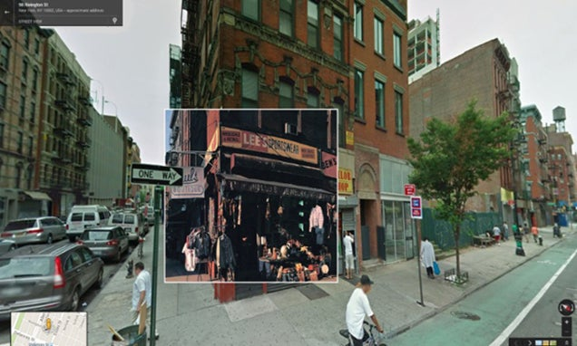 Iconic album covers merged with their real locations in Google maps