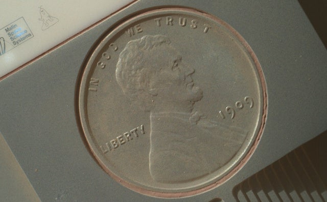 This is what a penny looks like after being on Mars for 411 days