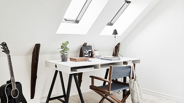 The Bright White Swedish Workspace