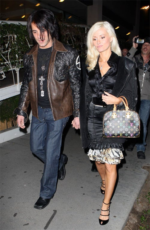 Holly Madison's Outfit Is Not An Illusion