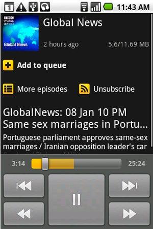 Most Popular Mobile Podcast Catcher: Google Listen
