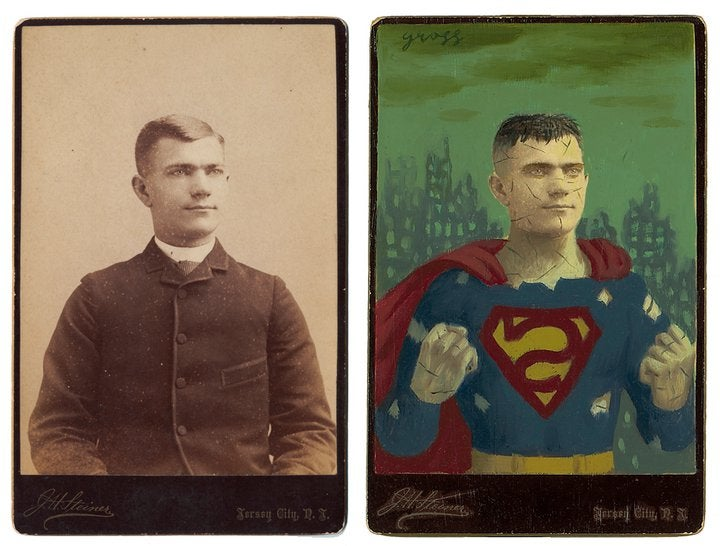 Artist transforms constipated Victorian photos into flamboyant scifi heroes