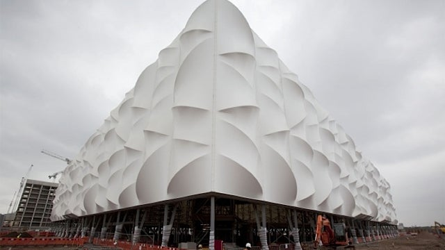 London's Olympics Basketball Stadium Looks Inflatable But Is Actually Recyclable