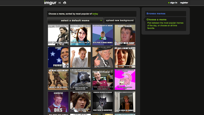 Imgur Now Has a Meme Generator