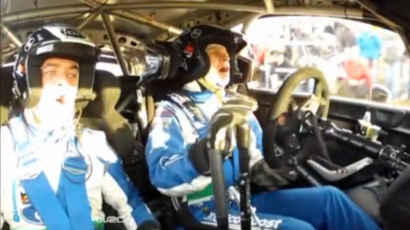 Watch A Rally Driver Nearly Take Out Spectators And Down A Telephone Pole In An Epic Crash