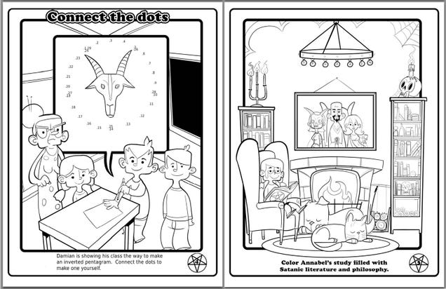 Satanists Made a Coloring Book for Public Schoolkids, and It's Not Bad
