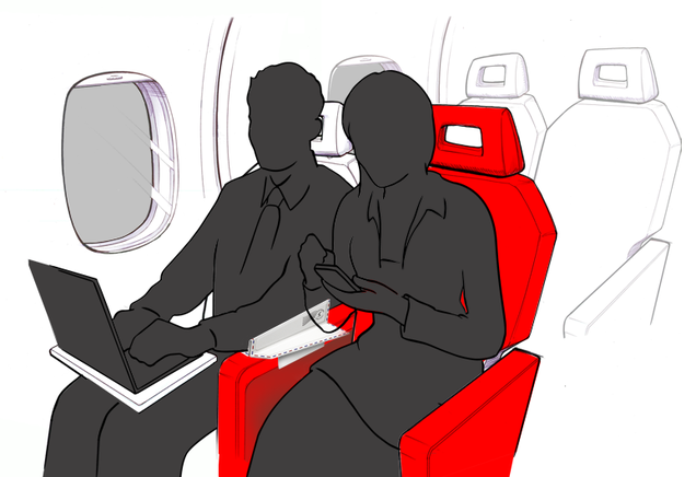 The Genius Way to Put a Stop to Airplane Armrest Battles for Good