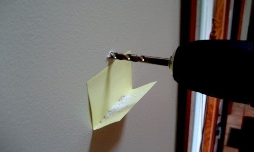 Use a Post-It Note for Easy Post-Drilling Cleanup