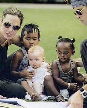 Kid-Crazy Jolie-Pitts Defy European Mathematicians
