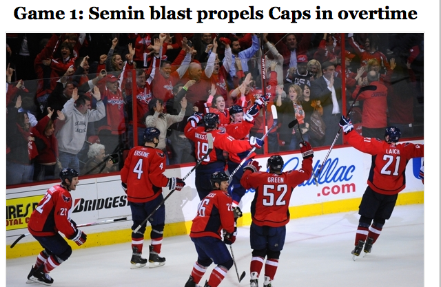 Semin Leads The Capitals To Sweet, Sweaty Extended-Time Victory