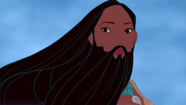 We can't stop looking at these Disney Princesses with beards