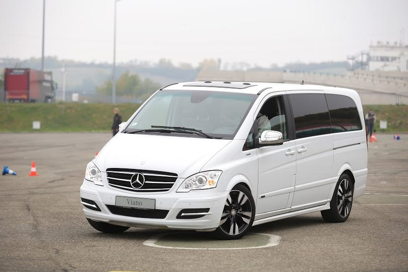 the mercedes benz v class is a luxury minivan you might