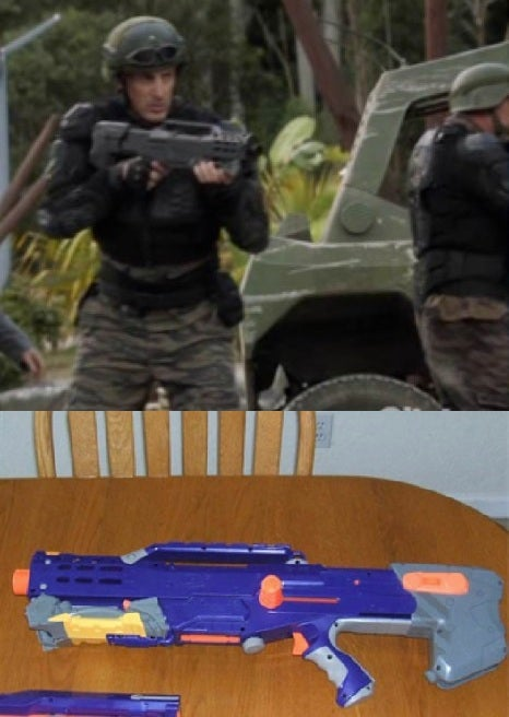 The most expensive show on television uses Nerf guns as props