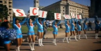 Pro Cheerleaders Become Science Cheerleaders