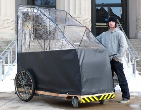 Michigan Student Creates Homeless Utility Vehicle; Results Are Both Degrading And Brilliant