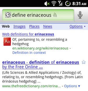 Use Google Voice Search as a Voice-Operated Dictionary