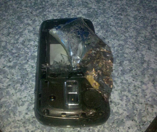 A Cellphone Exploded In My Face