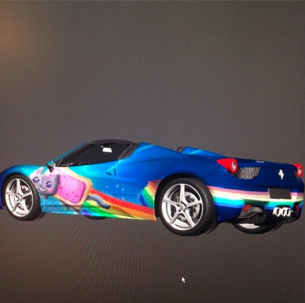 Deadmau5 May Give His Ferrari 458 This Wonderful Nyan Cat Wrap