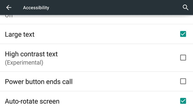 how to make text larger on android