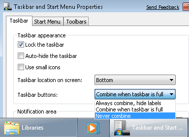 Add Text to the Windows 7 Taskbar Buttons