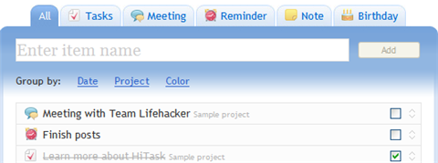 Manage your tasks with HiTask