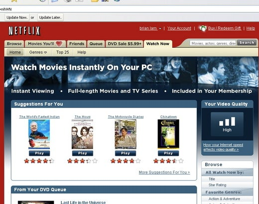 Hands On the Netflix Download Video Service: Thumbs Up