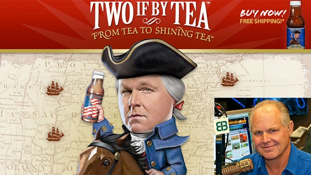 Rush Limbaugh Wants You To Buy His Tea, For Some Reason