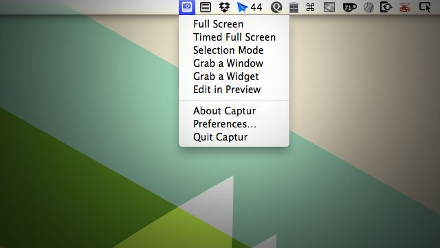Captur Puts Screen Capture Controls and Preferences in Your OS X Menubar