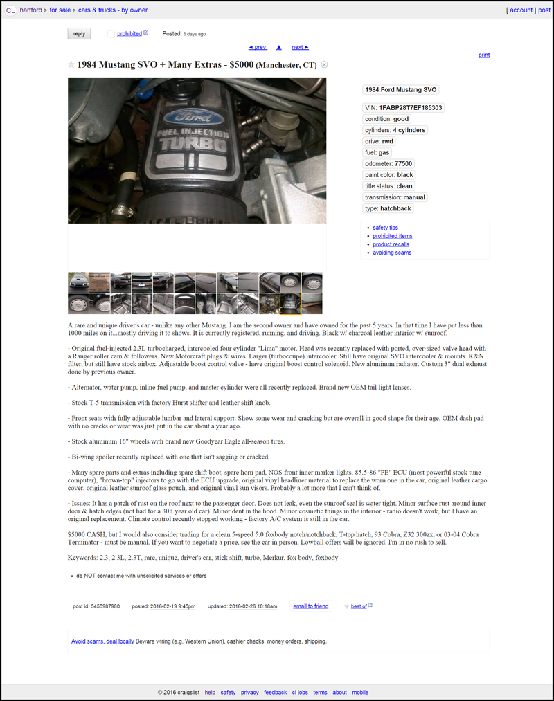 Cars And Coffee List Of Rare Cars For Craigslist Ad